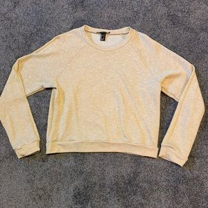 FOREVER 21 Crop Crew Neck Sweatshirt